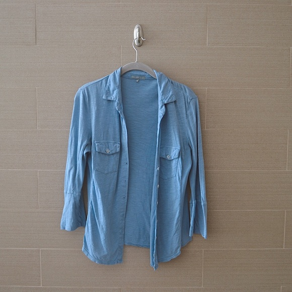 James Perse Tops - James Perse Blue Button-Up